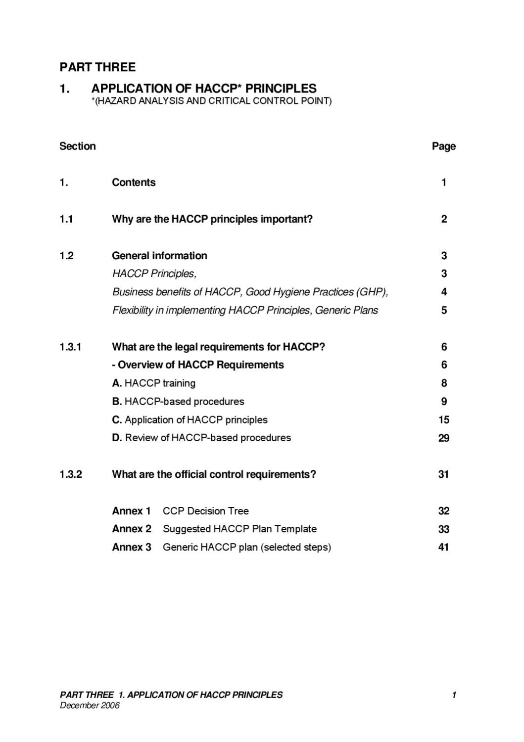 haccp principles and application guidelines