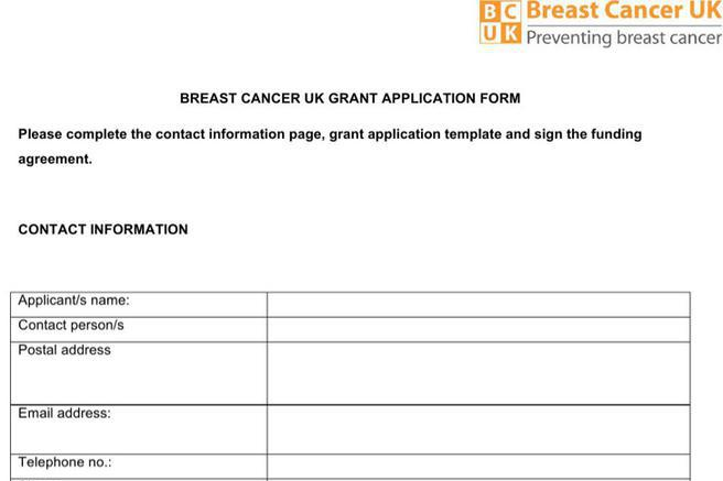 stand up to cancer grant application