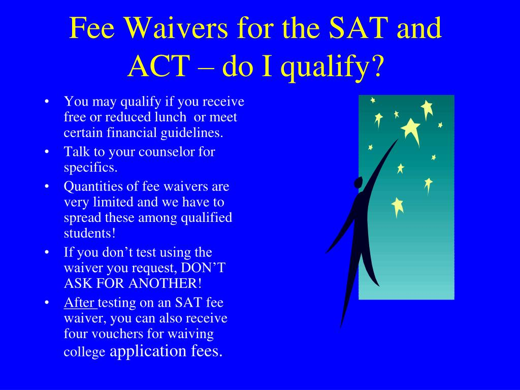 sat request for waiver of college application fee