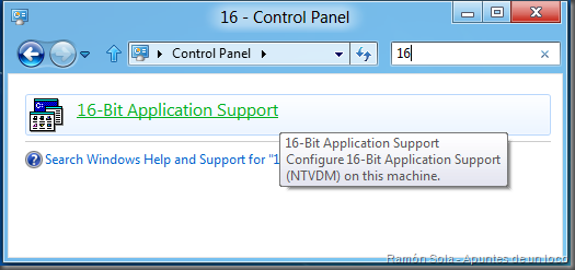 unsupported 16 bit application windows 8