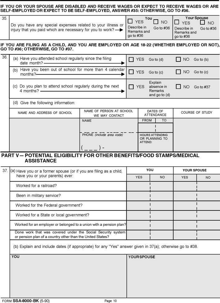 supplemental security income application form