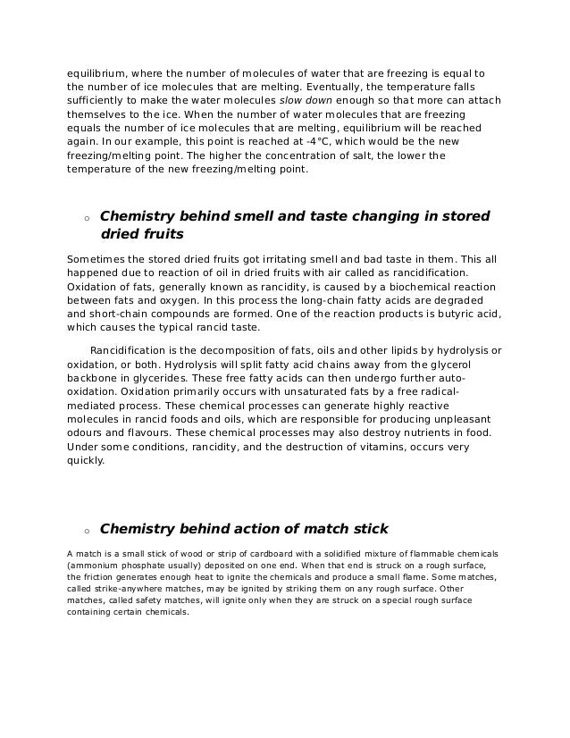 application of chemical kinetics in daily life